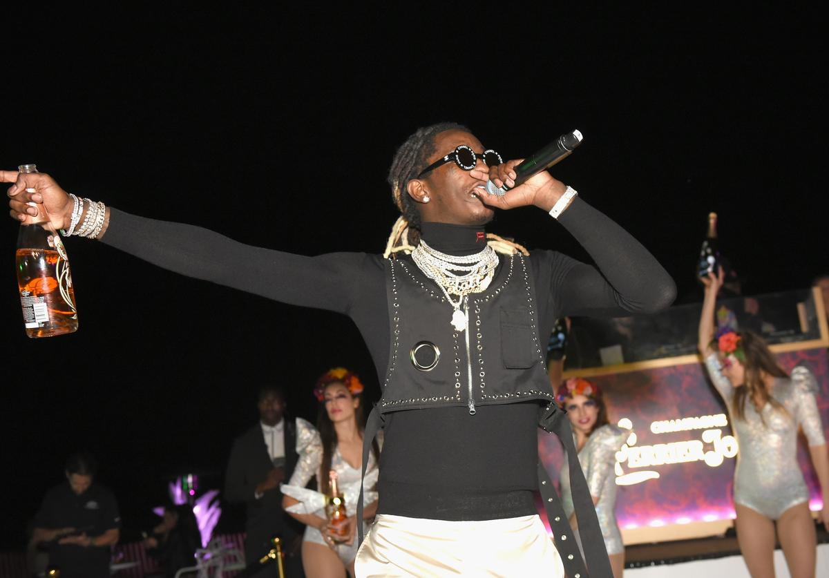 Rapper Young Thug performs at L'Eden by Perrier-Jouët on December 6, 2018 in Miami Beach, Florida.