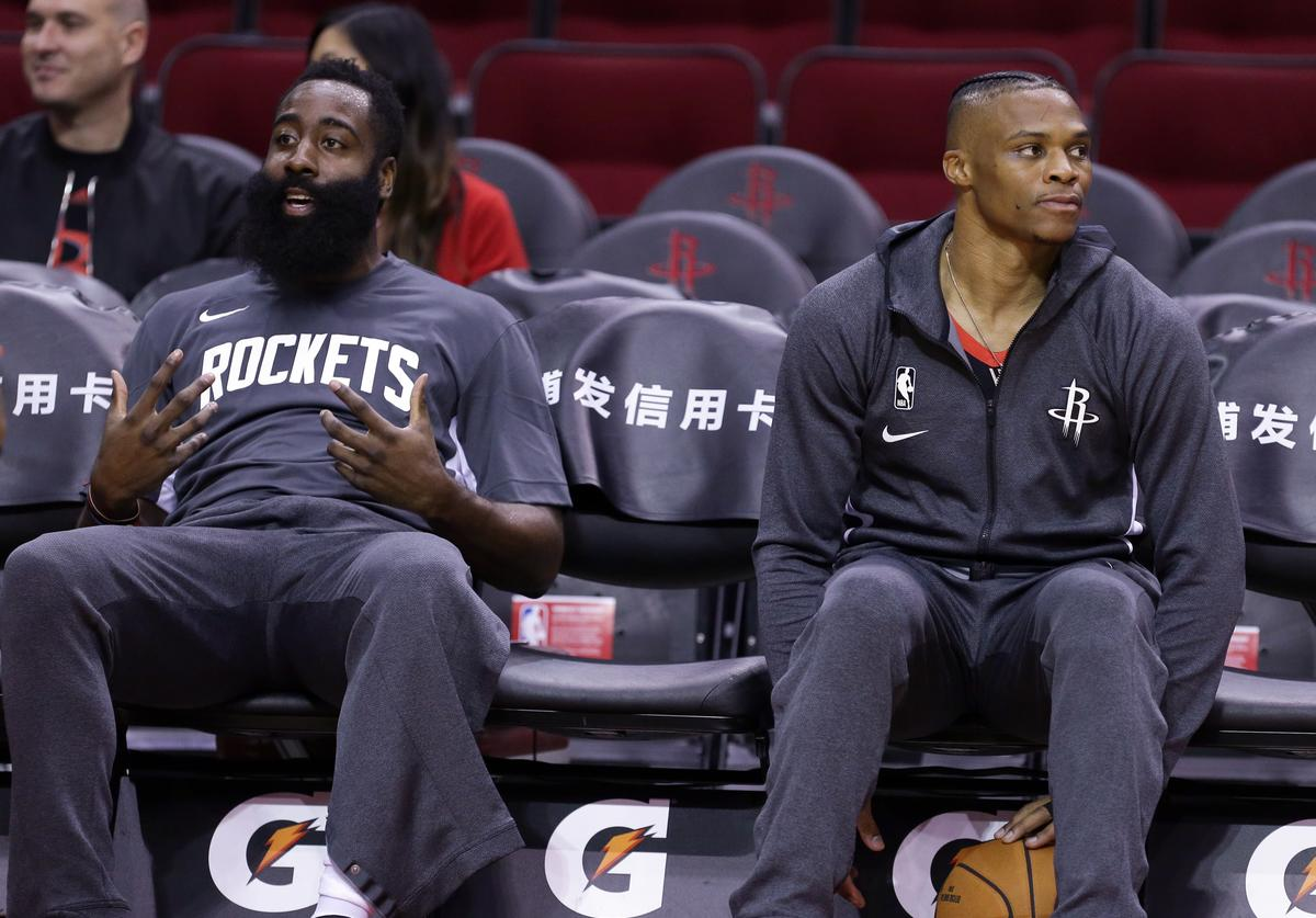 James HArden, Rockets, Westbrook