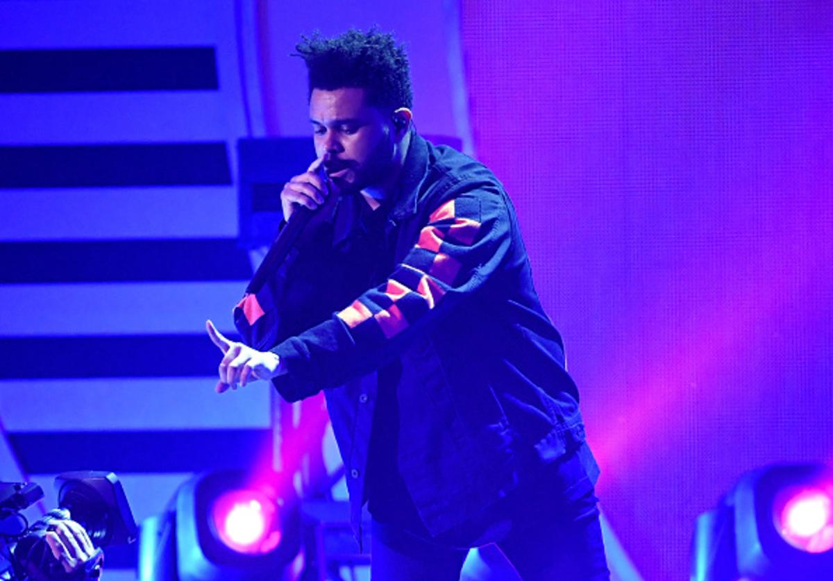 The Weeknd performs at 2017 iHeartRadio Music Festival