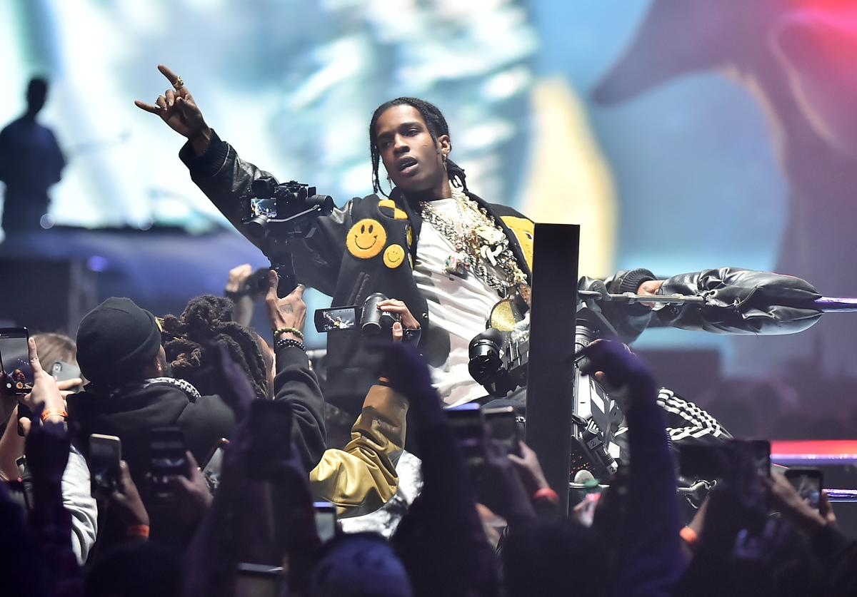 A$AP performs at Yams Day 2020