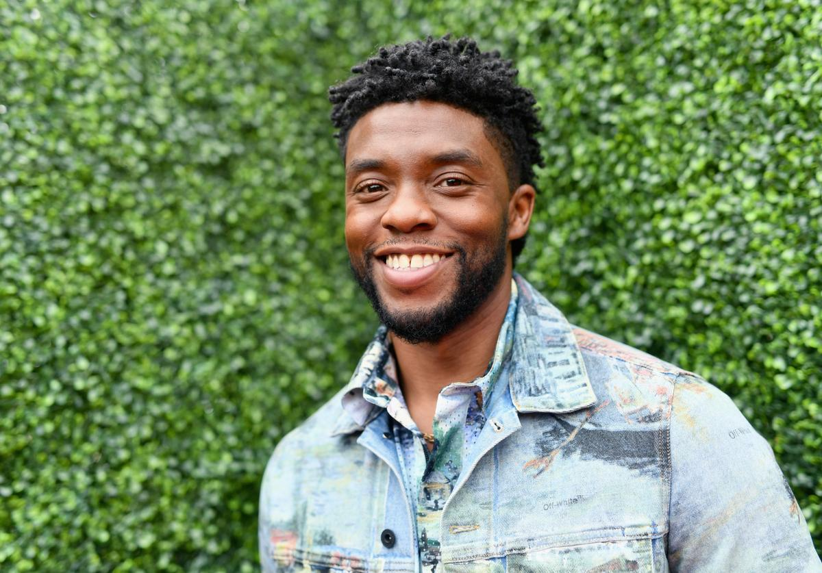 Actor Chadwick Boseman attends the 2018 MTV Movie And TV Awards at Barker Hangar on June 16, 2018 in Santa Monica, California.