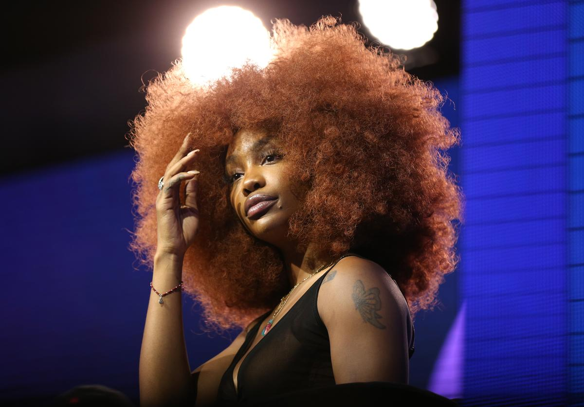 SZA onstage at the REVOLT X AT&T 3-Day Summit In Los Angeles - Day 2 at Magic Box on October 26, 2019 in Los Angeles, California.