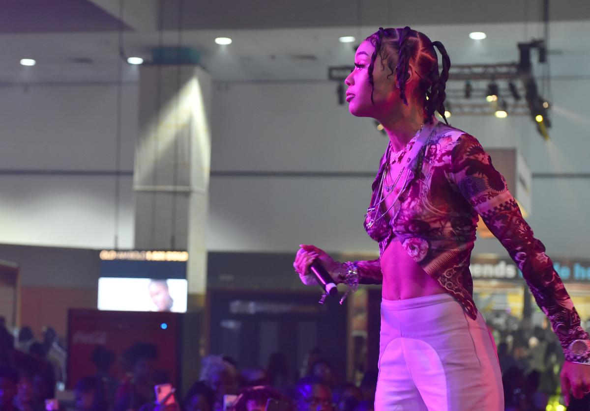 Coi Leray performs onstage at the Coca-Cola Music Stage during the BET Experience at Los Angeles Convention Center on June 22, 2019 in Los Angeles, California.