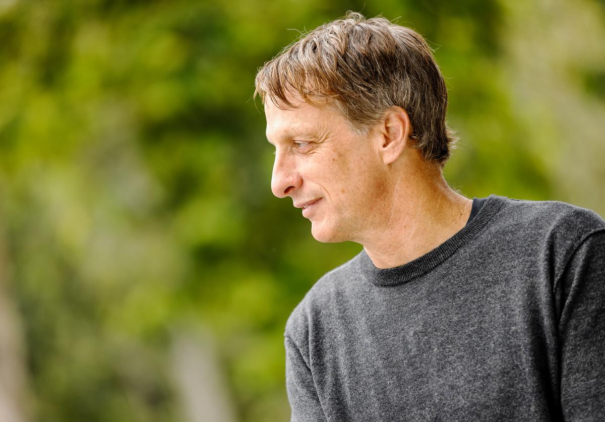 """Pro-skater Tony Hawk on the IMDb Series """"Special Skills"""" in Los Angeles, California. This episode of """"Special Skills"""" airs on February 25, 2020. ("""