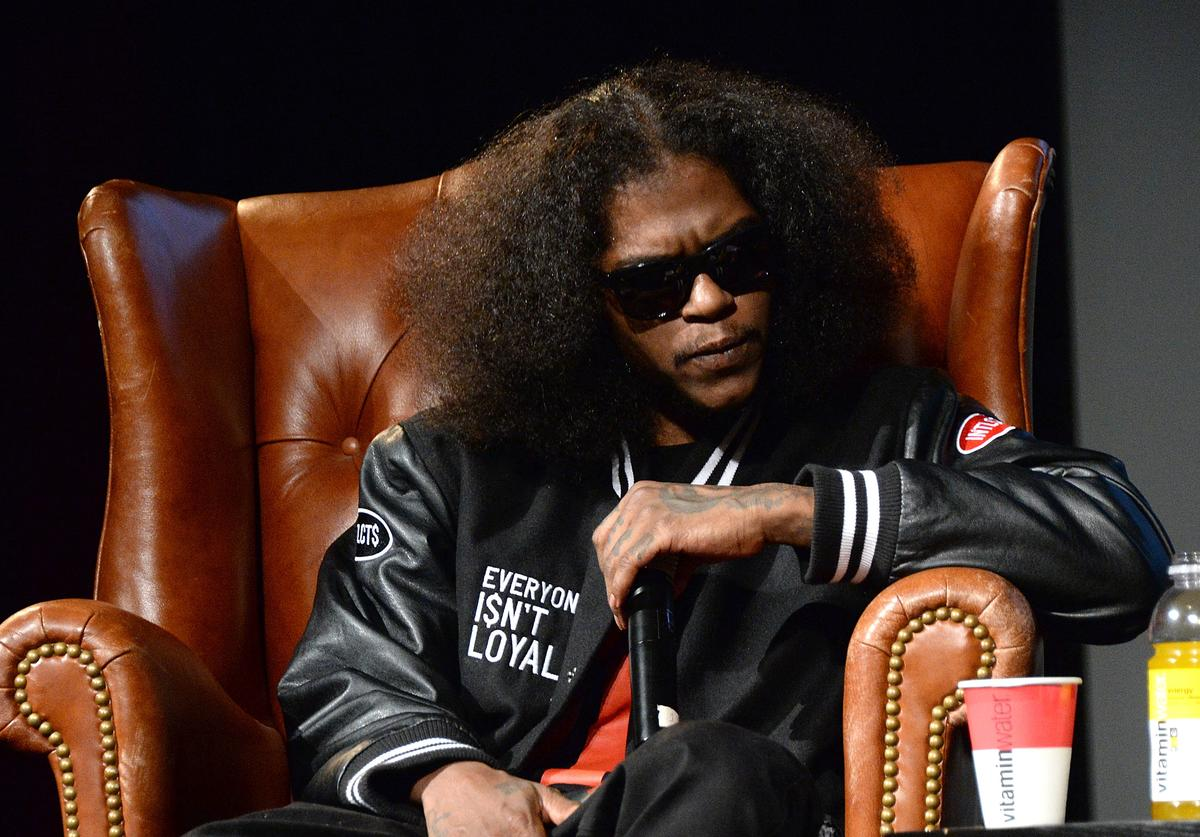 Ab-Soul speaks at Elliott Wilson hosts CRWN with Ab-Soul for WatchLOUD.com, presented by vitaminwater at the SVA Theater on September 16, 2014 in New York City