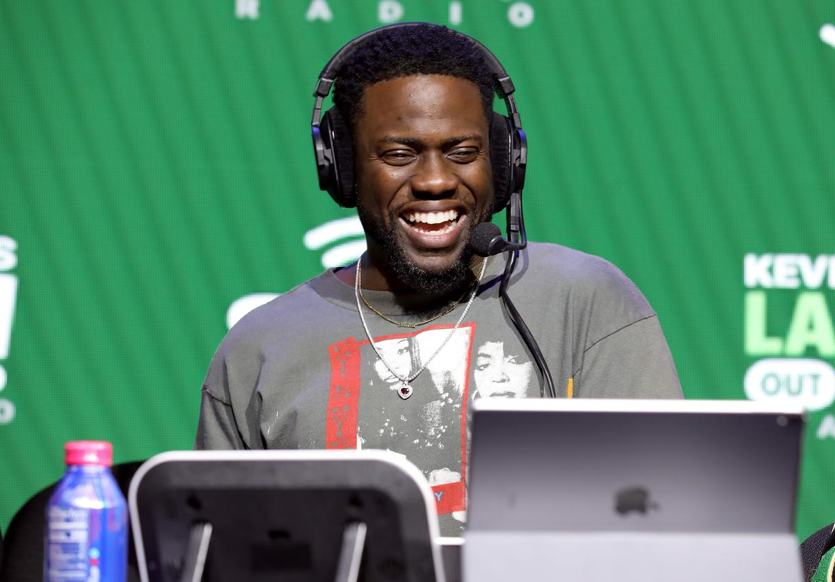 SiriusXM host Kevin Hart speaks onstage during day 3 of SiriusXM at Super Bowl LIV