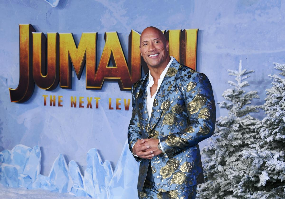 "Dwayne Johnson attends the premiere of Sony Pictures' ""Jumanji: The Next Level"