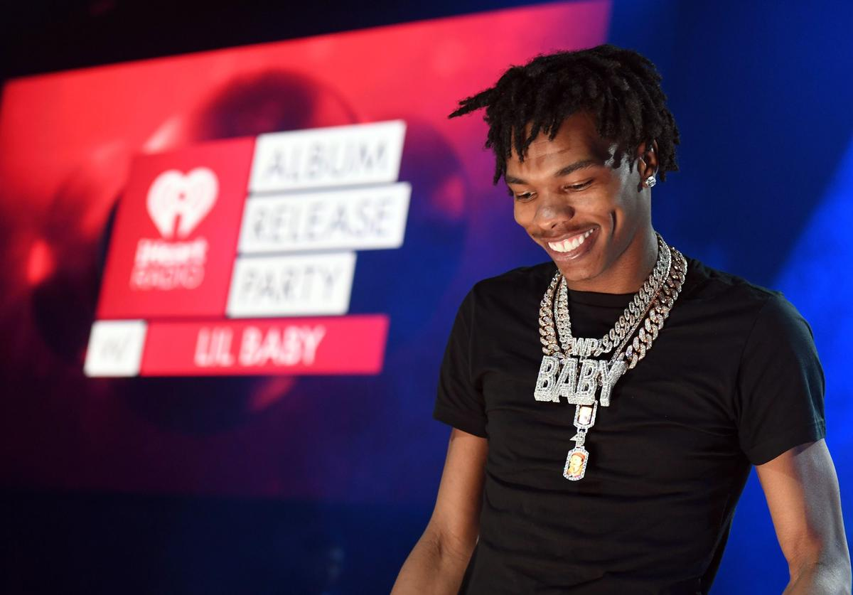 Lil Baby performs onstage during the iHeartRadio Album Release Party with Lil Baby at the iHeartRadio Theater on March 02, 2020 in Burbank, California.