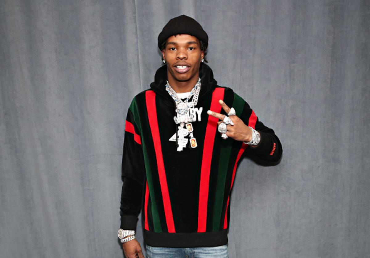 Rapper Lil Baby visits the SiriusXM Studios on March 06, 2020 in New York City
