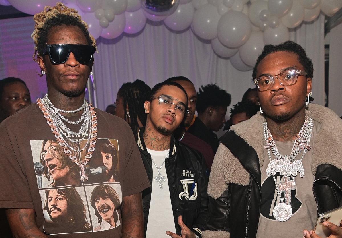 Young Thug, Nechie and Gunna attend Lil Baby's Ice Ball