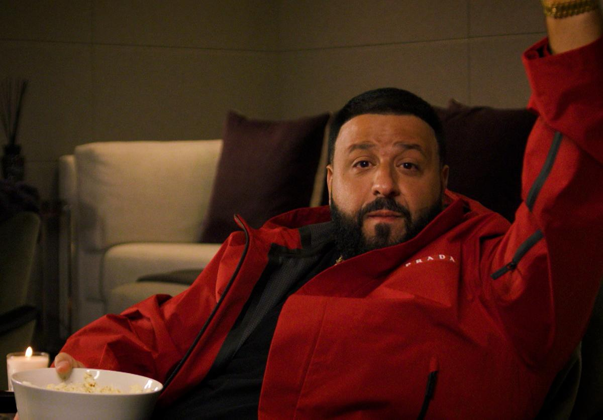 In this screengrab released on November 08, DJ Khaled introduces Karol G at the MTV EMA's 2020