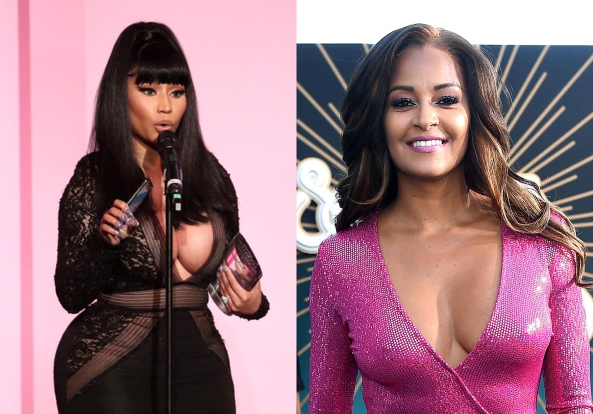 Collage featuring Nicki Minaj (left) and Claudia Jordan (right)