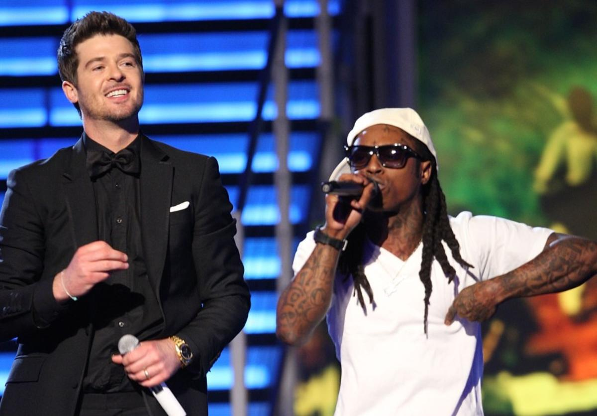 Robin Thicke, Lil Wayne, Shooter, Tha Carter II, Bank Robbery, The Kelly Clarkson Show