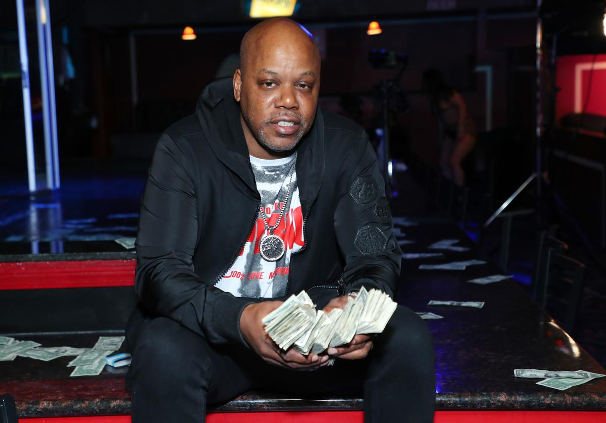 "Rapper Too Short poses for a photo during the music video shoot for the new single, ""Rain Dance"" at Angels Cabaret"