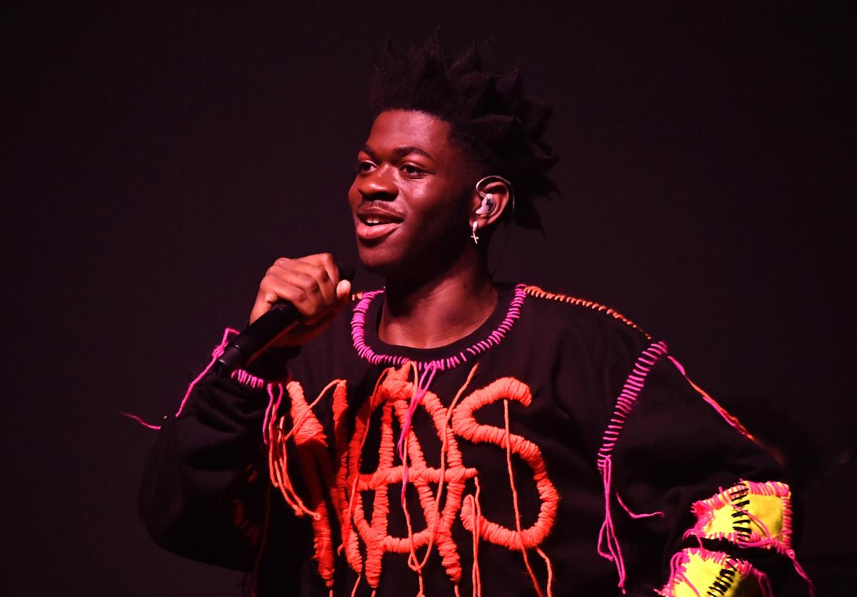 """Lil Nas X performs onstage during Spotify Hosts """"Best New Artist"""" Party at The Lot Studios"""