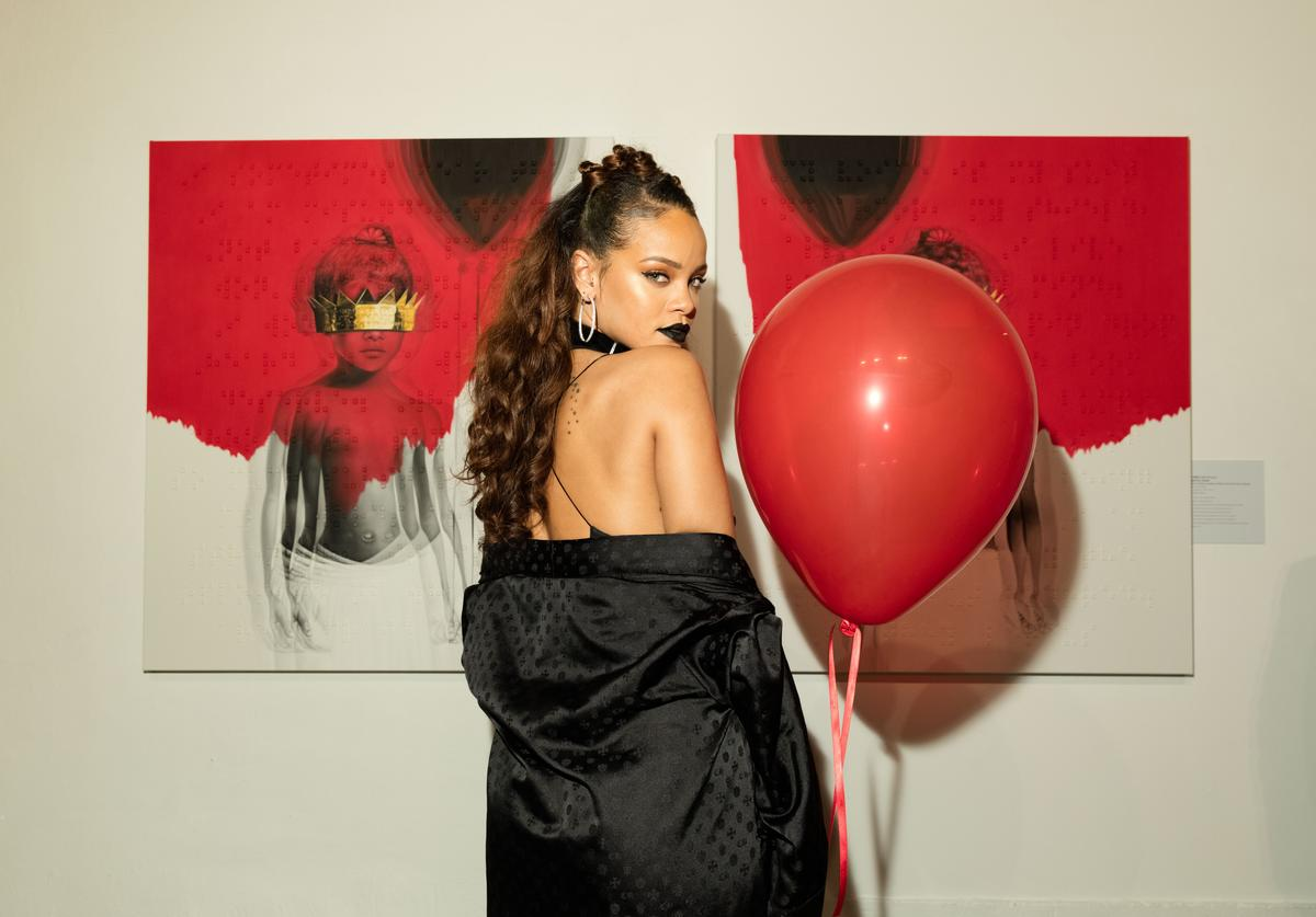 Rihanna at her 'ANTI' album announcement party