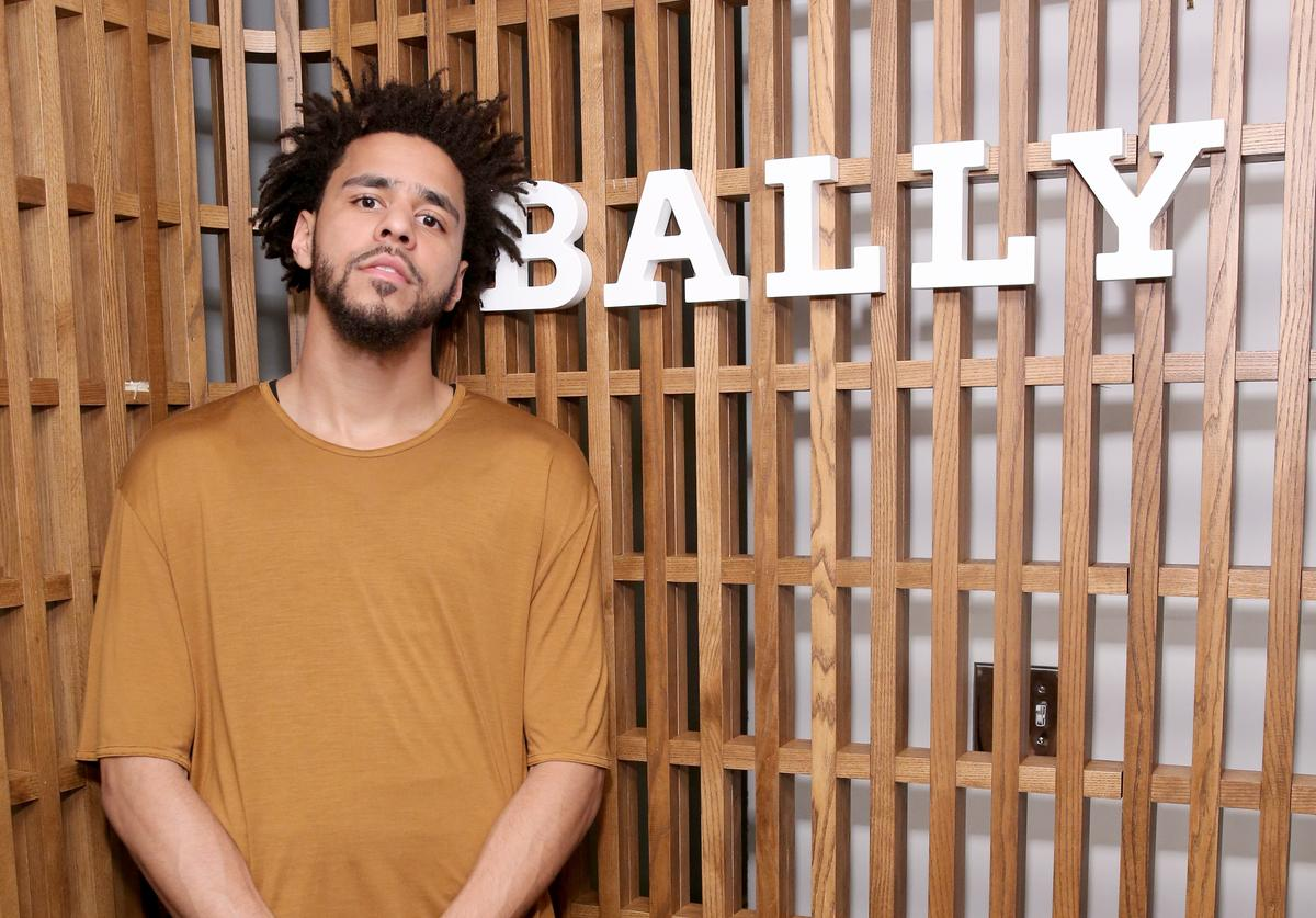 J. Cole at a Bally event