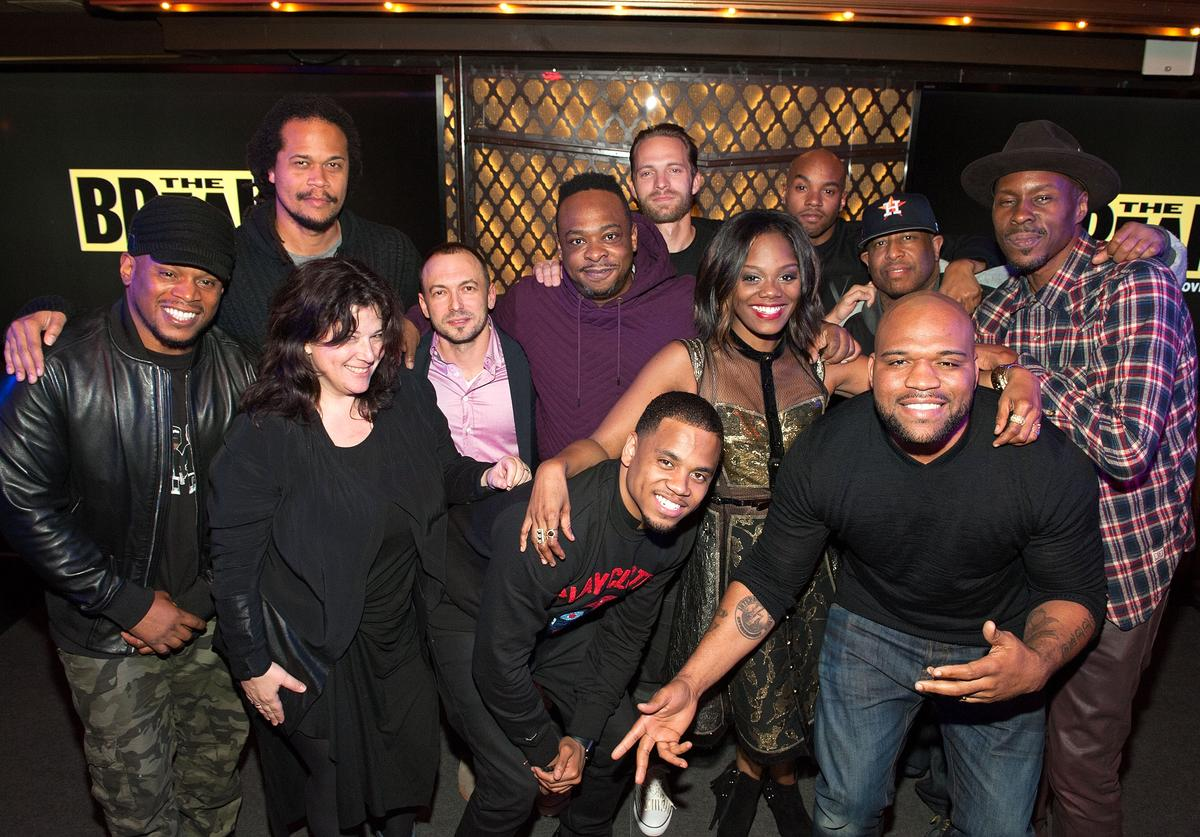 "Cast and crew members at the VH1 premiere of ""The Breaks"""