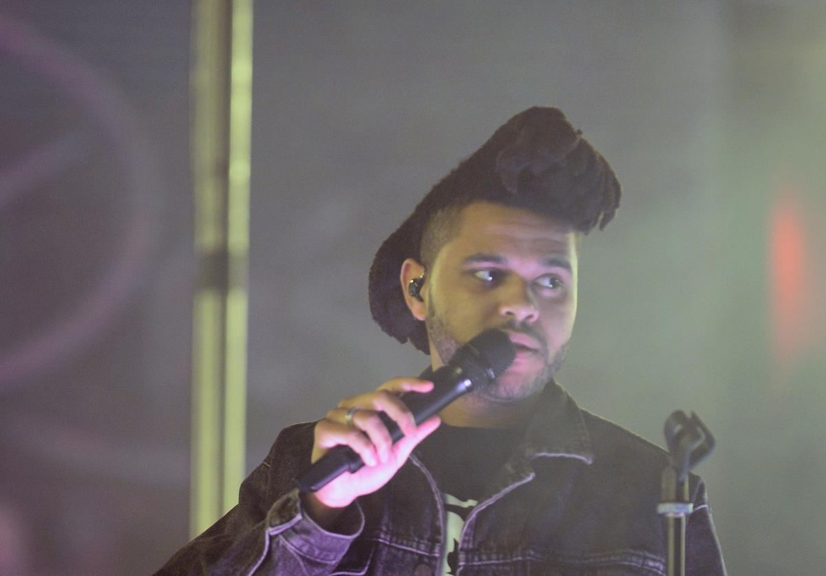 The Weeknd performing live