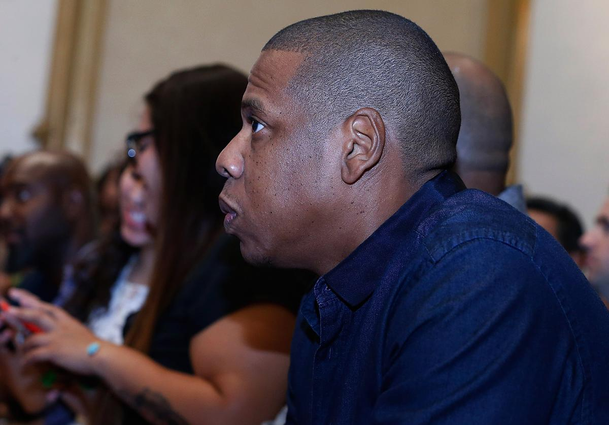 Jay Z AT Miguel Cotto Vs Canelo Alvarez Press Conference