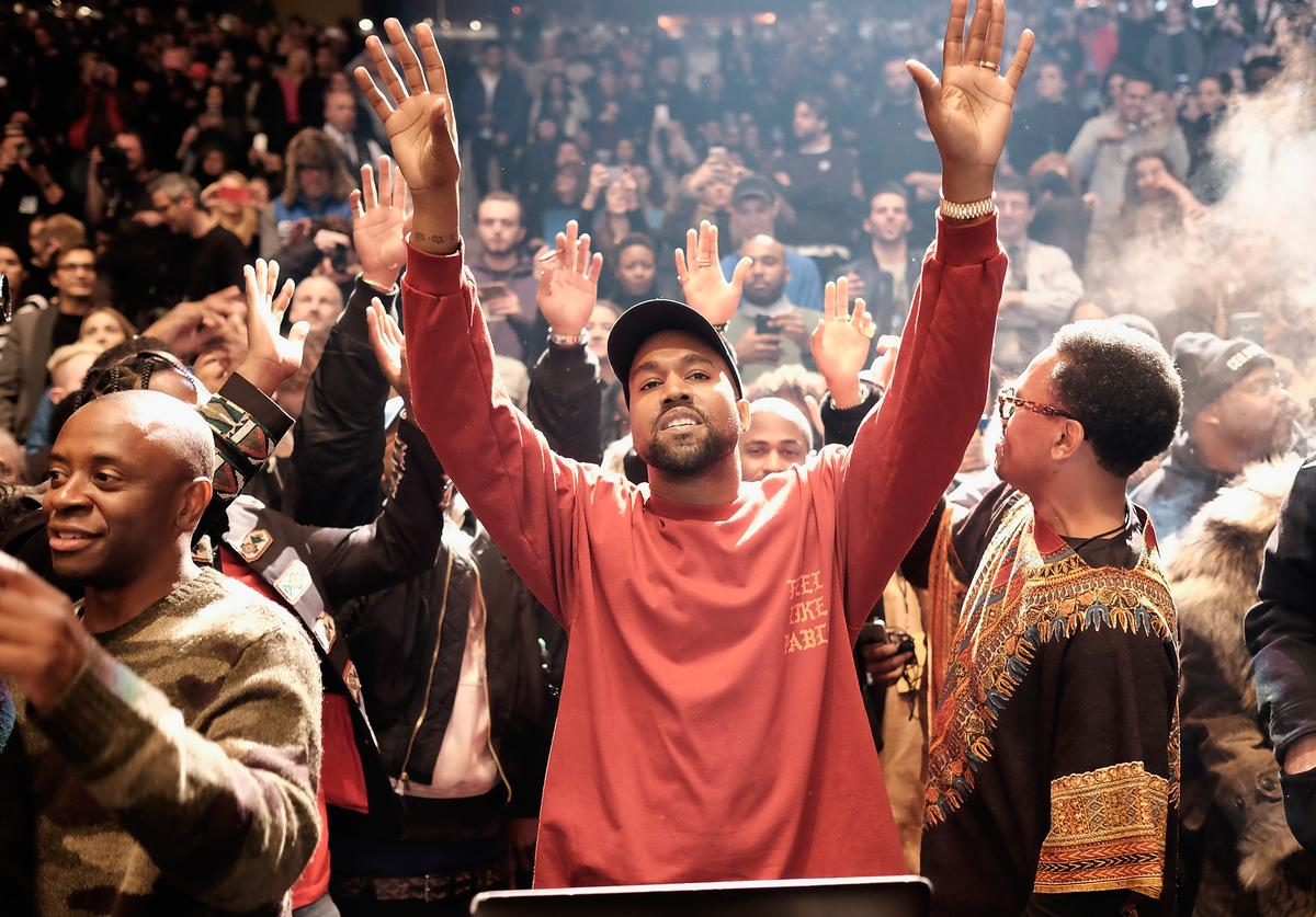 Kanye West performs during Kanye West Yeezy Season 3 on February 11, 2016 in New York City. (