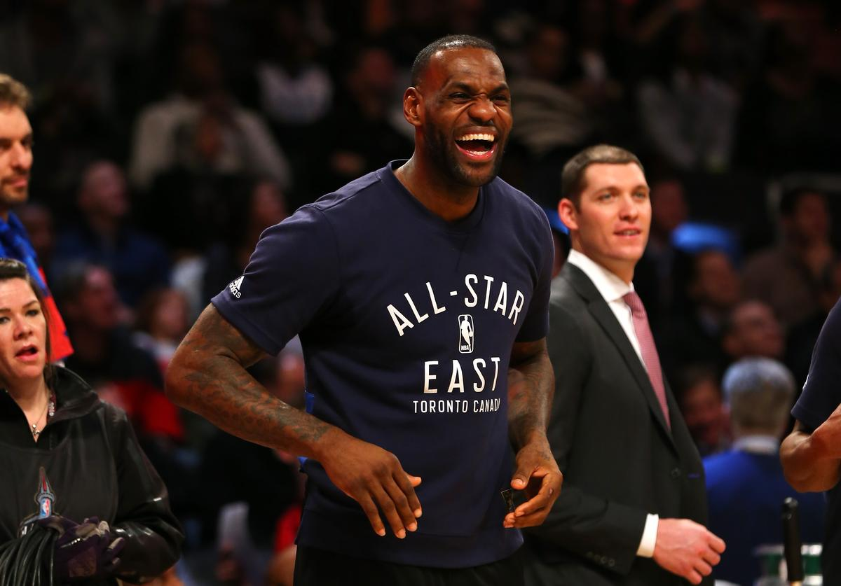 Lebron james at all star weekend 2016