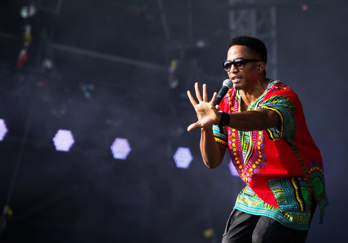 A Tribe Called Quest performs on the main stage on day 3 of the Yahoo! Wireless Festival at Queen Elizabeth Olympic Park
