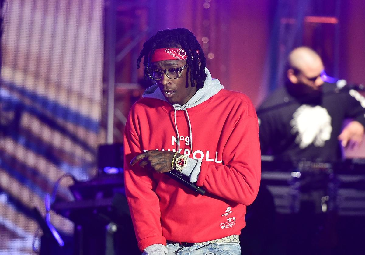 Young Thug at a TIDAL X concert.