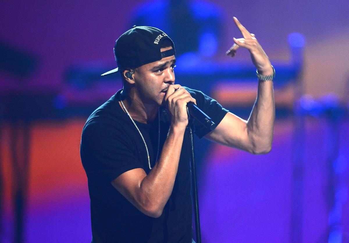 Recording artist J. Cole performs onstage during the iHeartRadio Music Festival at the MGM Grand Garden Arena on September 20, 2013 in Las Vegas, Nevada. (Photo by