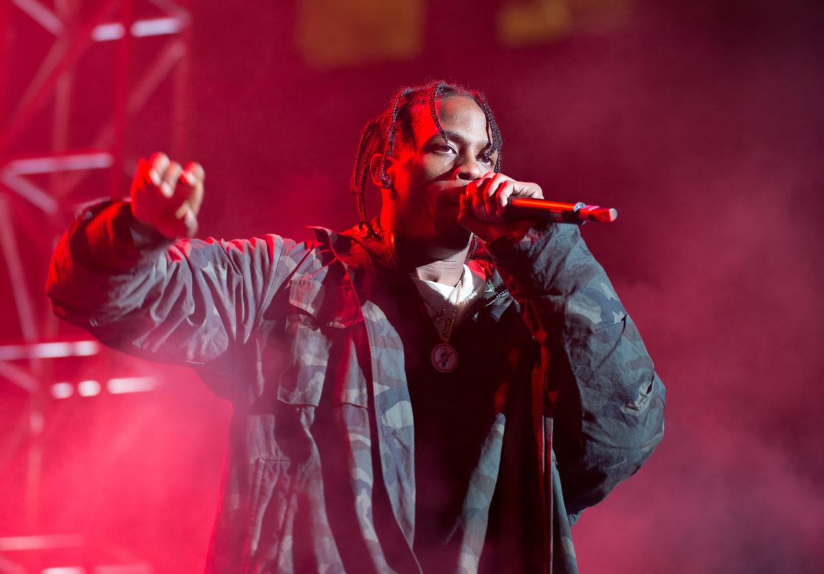 Hiphop artist Travis Scott performss at Roc city classic Flatiron District on February 12 2015 in New York City VIEW DETAILS 1st Annual Roc City Classic