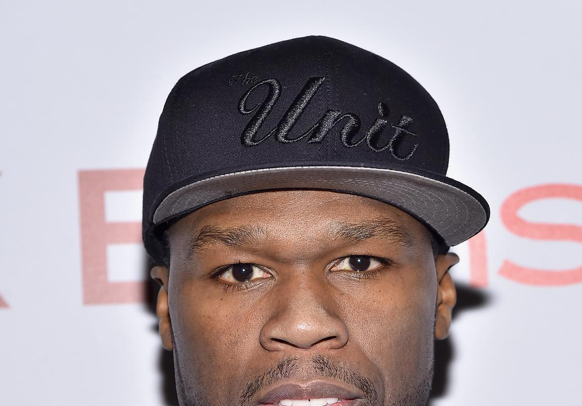 Rapper 50 Cent attends the 'Cake' screening hosted by The Cinema Society & Instyle at Tribeca Grand Hotel on November 16, 2014 in New York City. (Photo by Mike Coppola/Getty Images)