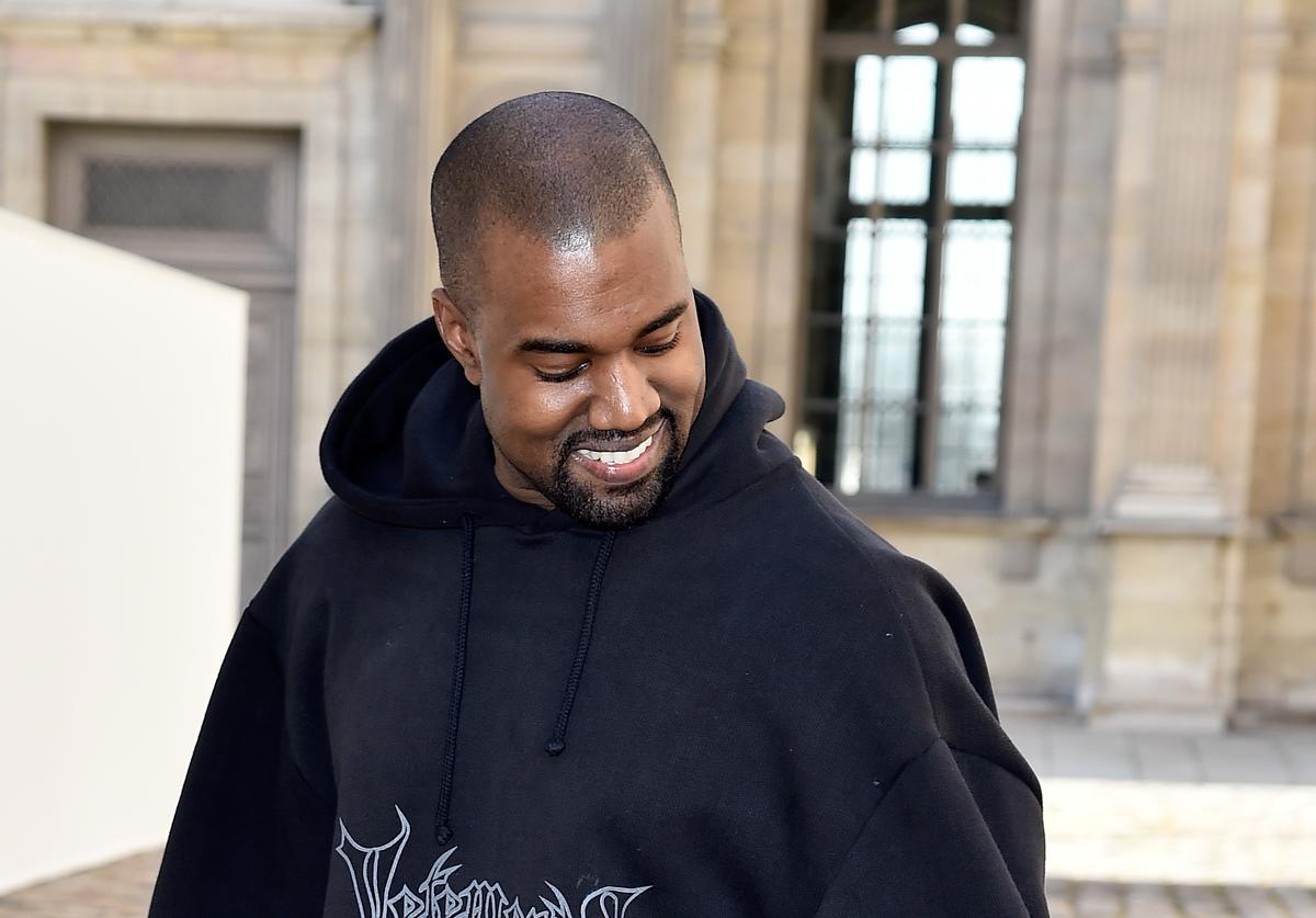 Kanye West attends the Christian Dior show as part of the Paris Fashion Week Womenswear Fall/Winter 2015/2016 on March 6, 2015 in Paris, France.