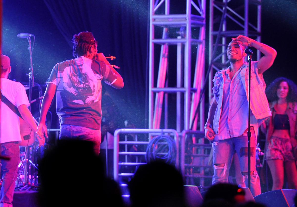 Rapper Kendrick Lamar (L) and recording artist Anderson .Paak perform onstage during day 3 of the 2016 Coachella Valley Music & Arts Festival Weekend 2 at the Empire Polo Club on April 24, 2016 in Indio, California