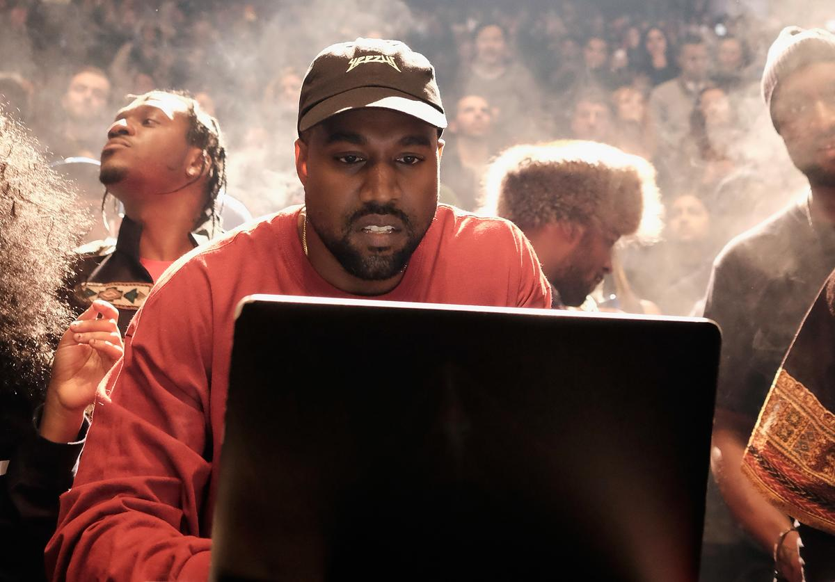 Kanye West performing at Yeezy 3 show at MSG
