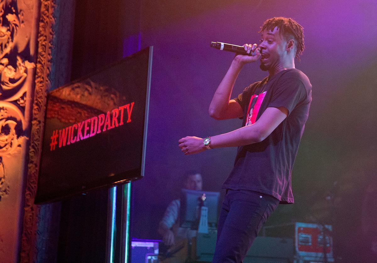 Danny Brown performing in Chicago