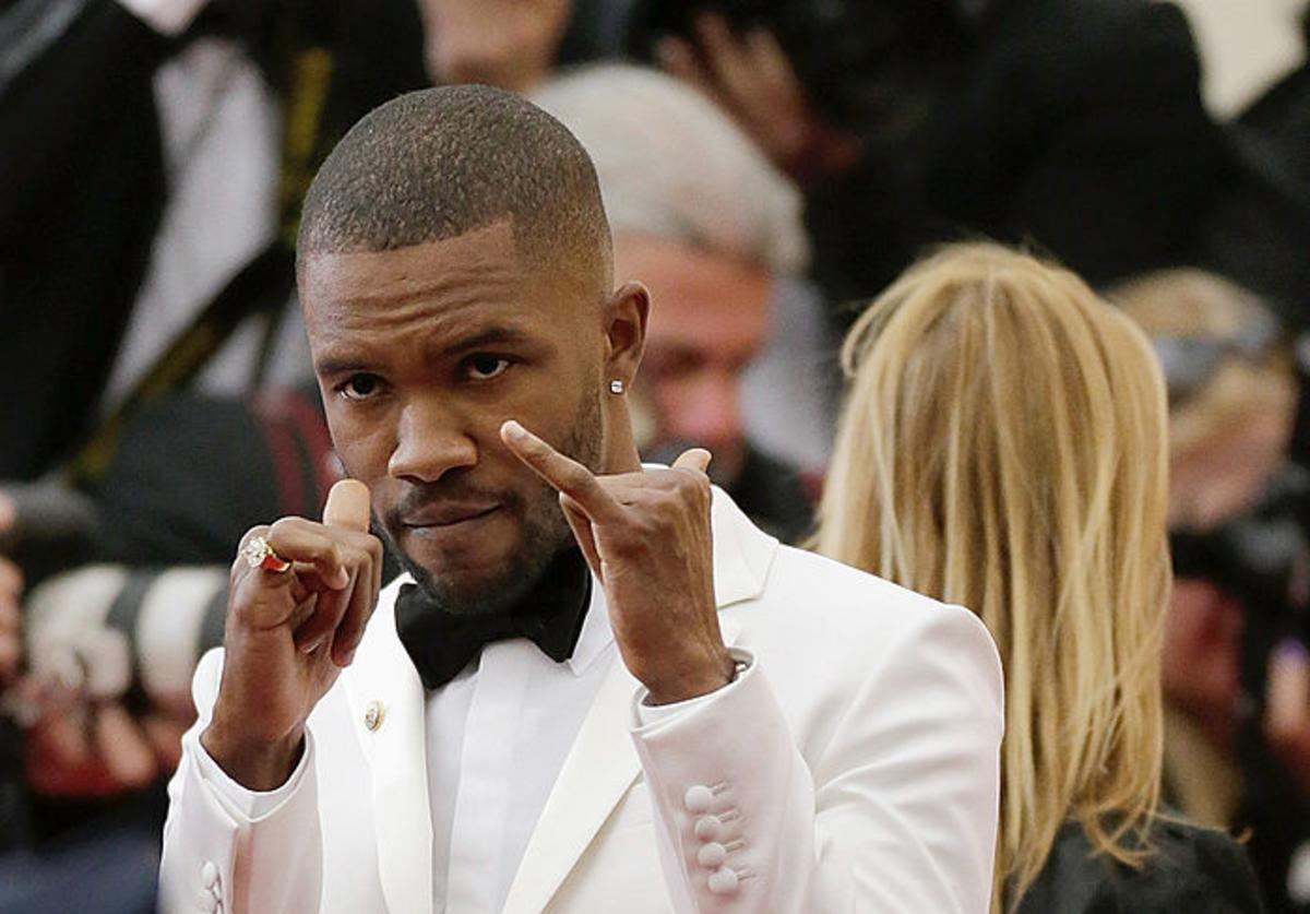 Frank Ocean attends the 'Charles James: Beyond Fashion' Costume Institute Gala at the Metropolitan Museum of Art on May 5, 2014 in New York City
