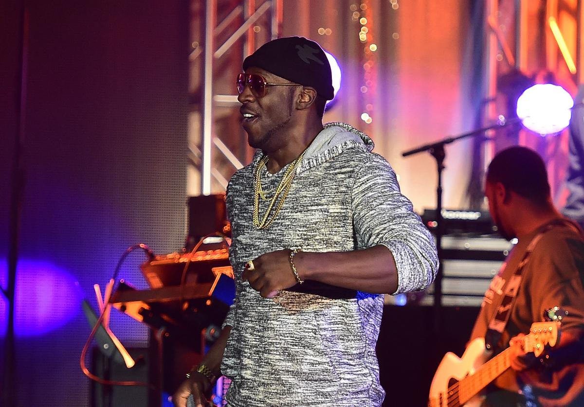Young Dro performing at a TIDAL event
