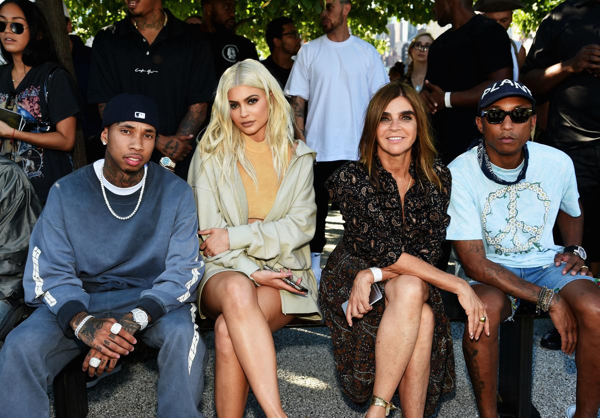Tyga and Kylie at Yeezy Season 4 front row