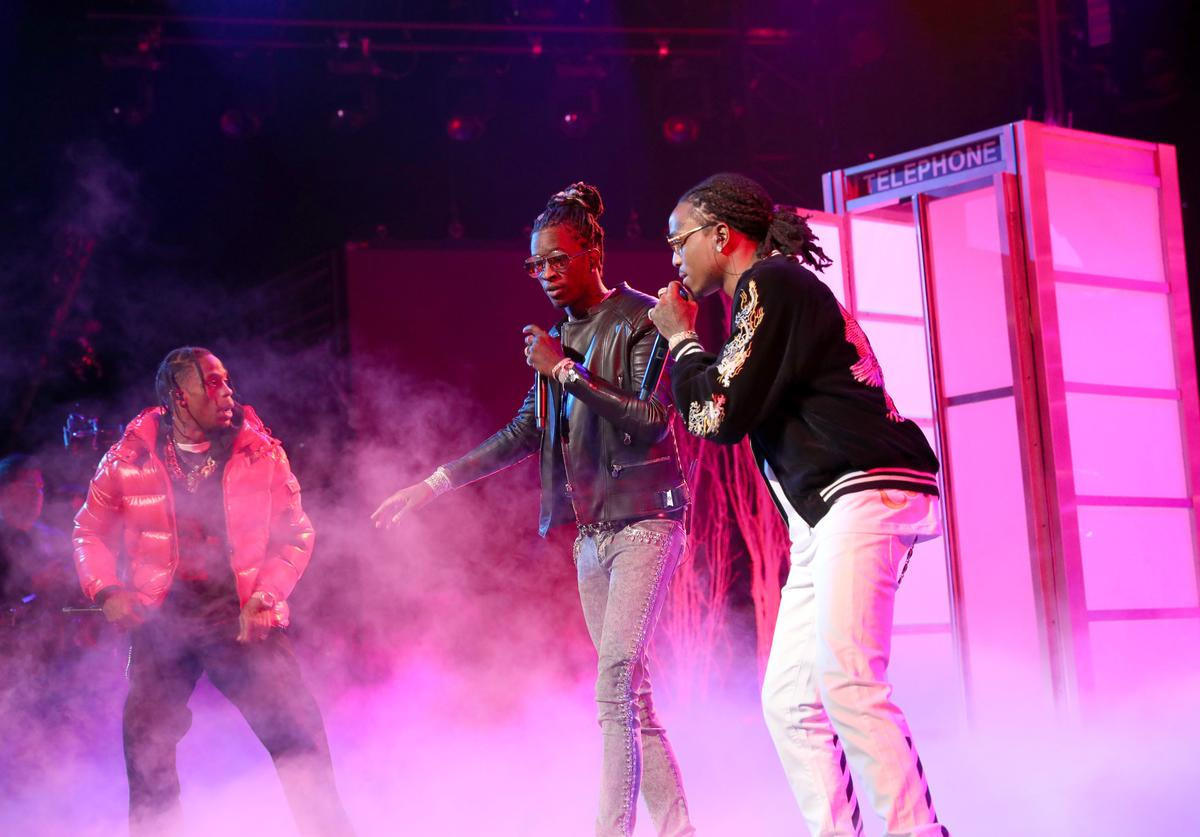 Travis Scott, Young Thug & Quavo at BET Awards 2016