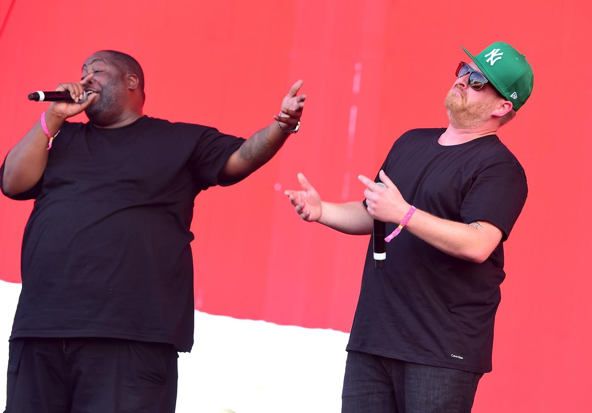 El-P and Killer Mike of Run the Jewels perform onstage at the 2016 Panorama NYC Festival - Day 3 at Randall's Island on July 24, 2016 in New York City.