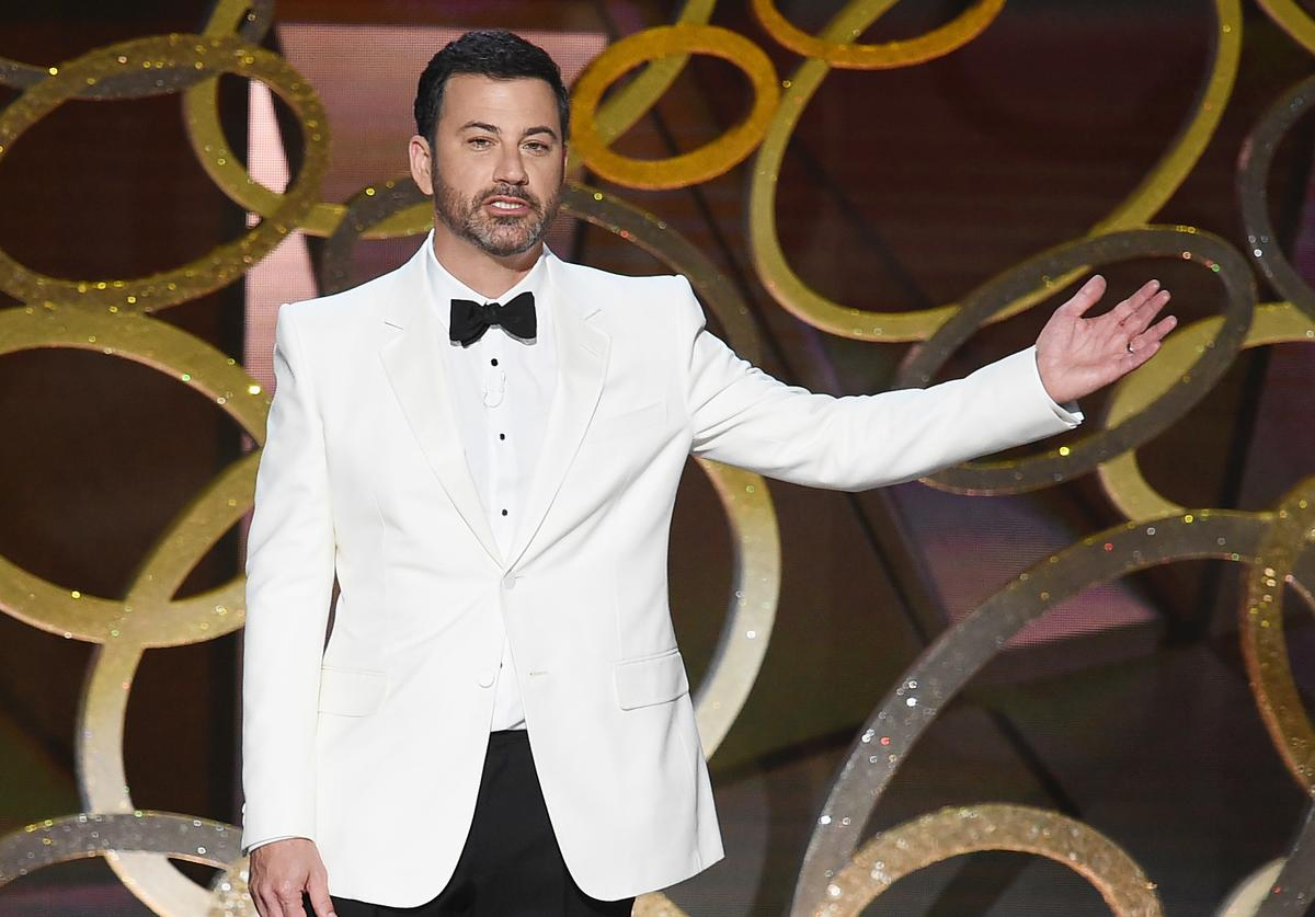 Host Jimmy Kimmel speaks onstage during the 68th Annual Primetime Emmy Awards at Microsoft Theater on September 18, 2016 in Los Angeles, California.