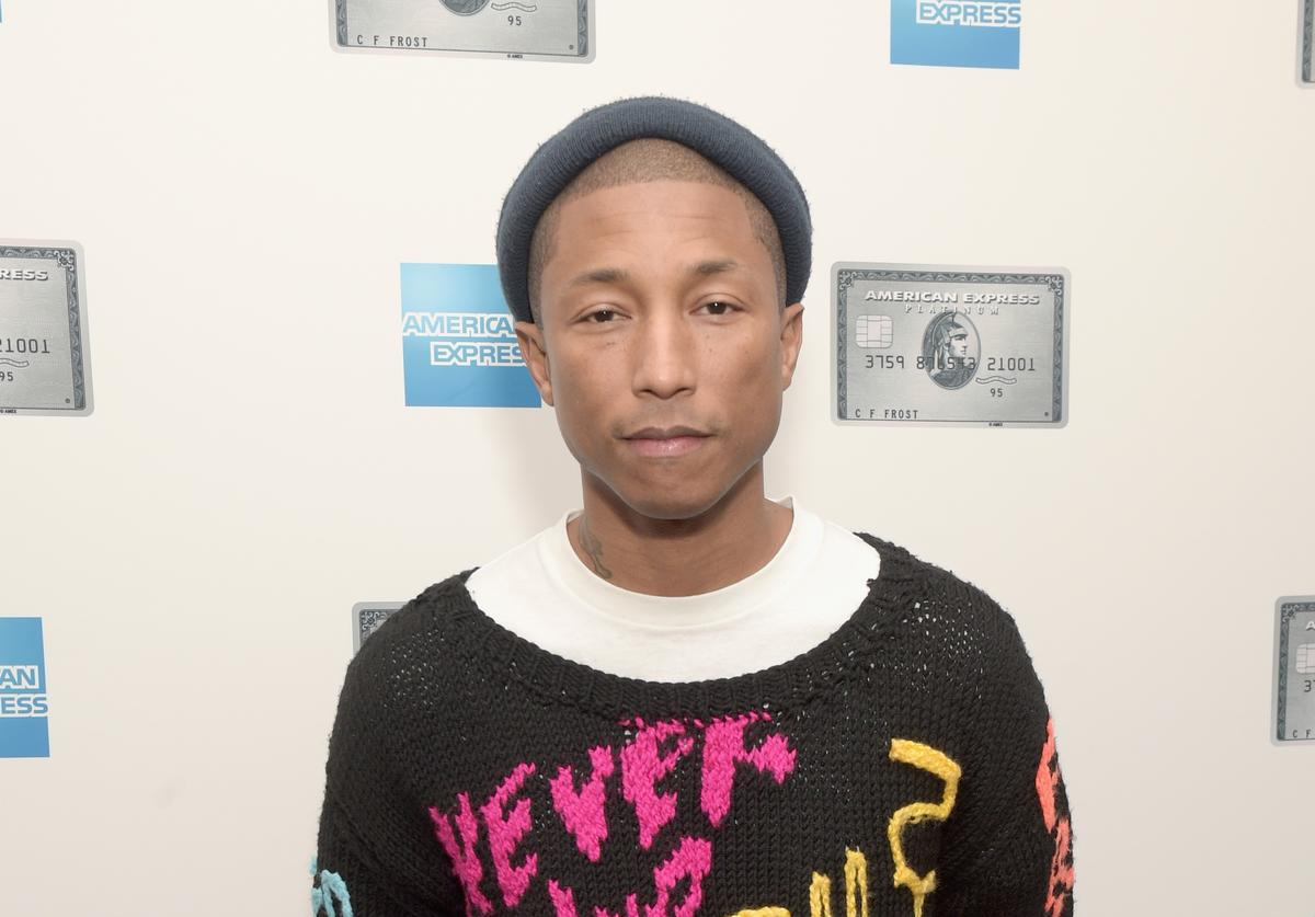 Pharrell Williams attends American Express announces Pharrell Williams as the Creative Director of the Platinum Card in 2017 at American Express on December 15, 2016 in New York City.