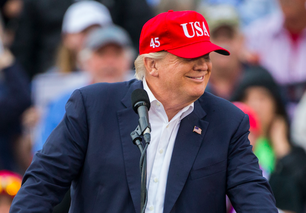 President-elect Donald Trump speaks during a thank you rally in Ladd-Peebles Stadium on December 17, 2016 in Mobile, Alabama. President-elect Trump has been visiting several states that he won, to thank people for their support during the U.S. election.