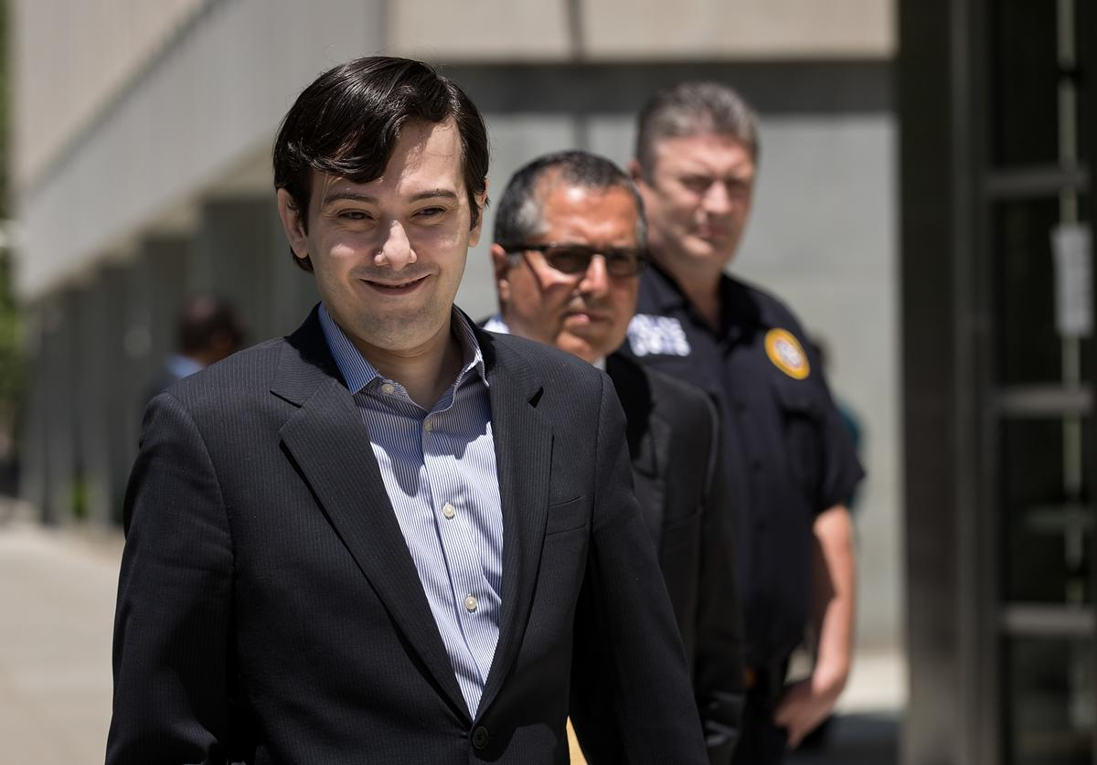 Ex-pharmaceutical executive Martin Shkreli exits the U.S. District Court for the Eastern District of New York, June 6, 2016, in the Brooklyn borough of New York City. Federal prosecutors filed new criminal charges accusing Shkreli of more illegal financial maneuvers at his former drug company Retrophin Inc.