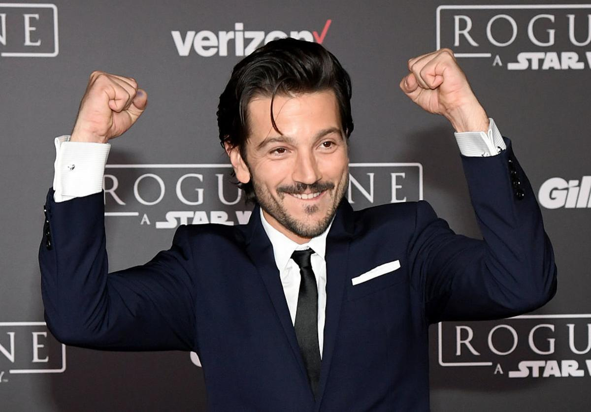 Actor Diego Luna attends the premiere of Walt Disney Pictures and Lucasfilm's 'Rogue One: A Star Wars Story' at the Pantages Theatre on December 10, 2016 in Hollywood, California.