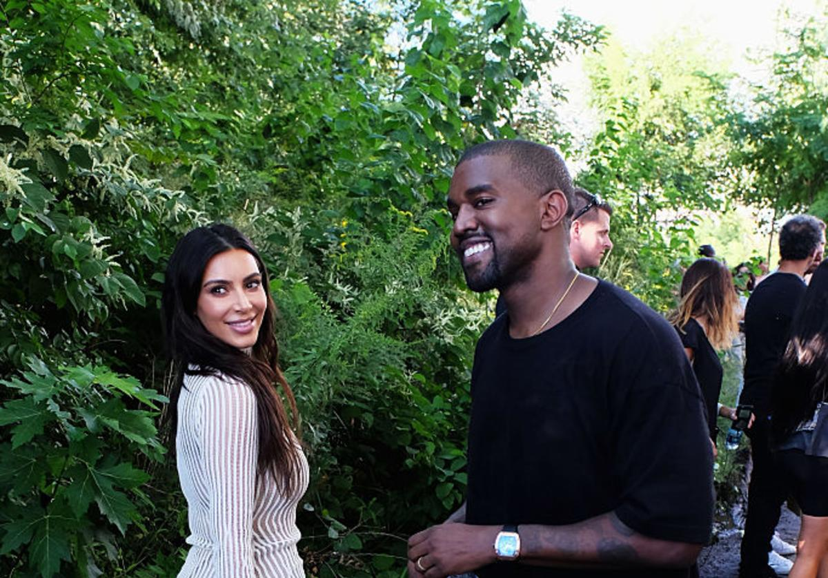 im Kardashian and Kanye West attend the Kanye West Yeezy Season 4 fashion show on September 7, 2016 in New York City.