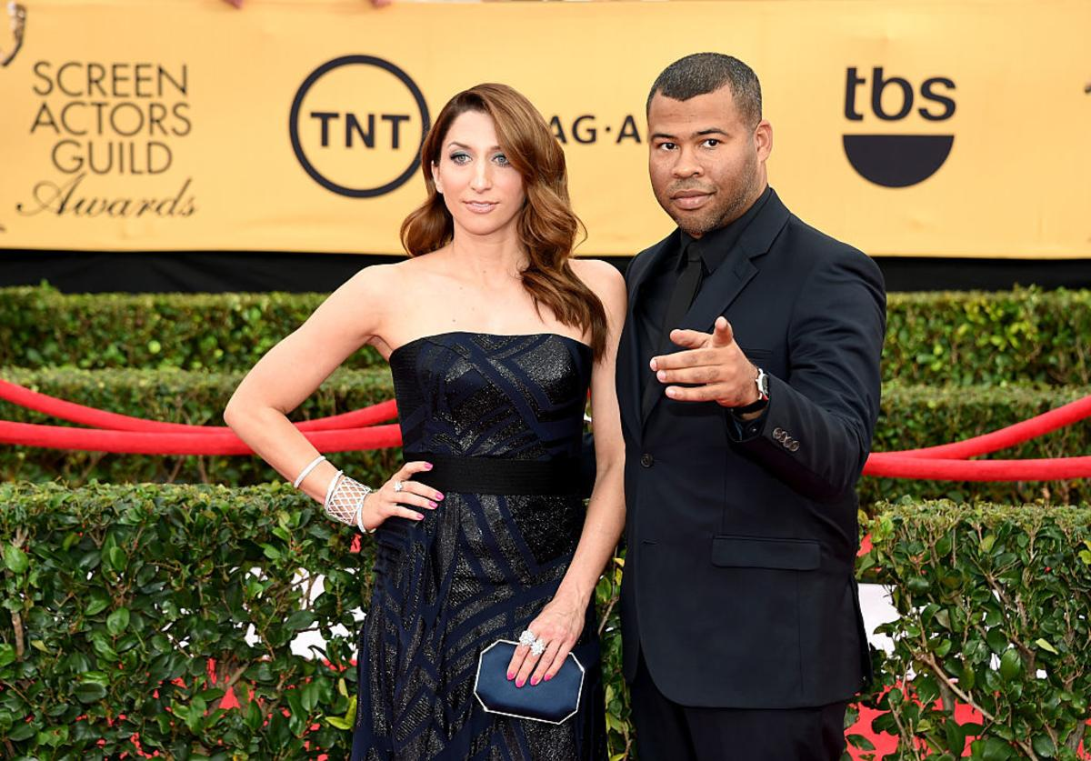 Actors Chelsea Peretti and Jordan Peele attend the 21st Annual Screen Actors Guild Awards at The Shrine Auditorium on January 25, 2015 in Los Angeles, California.