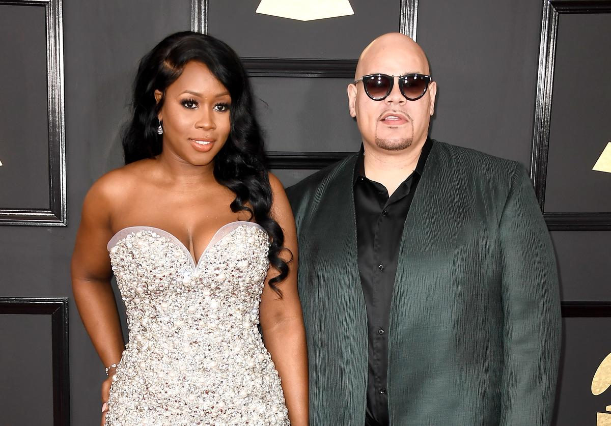 Fat Joe and Remy Ma on the Grammys red carpet