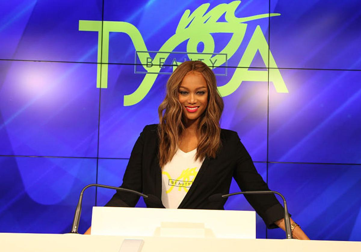 Tyra Banks poses for a photo after the Closing Bell ceremony at the Nasdaq Entrepreneurial Center on September 27, 2016 in San Francisco, California.