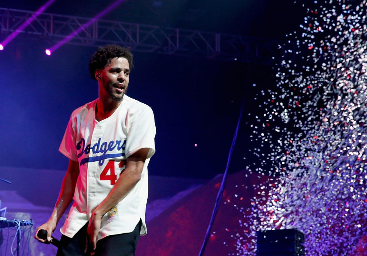 J. Cole performs during ESPN the Party at WestWorld of Scottsdale on January 30, 2015 in Scottsdale, Arizona.